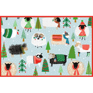 Warm And Wooly Christmas Card Box C Size 16 In (87215)
