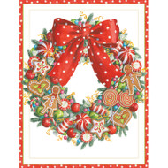 Candy Wreath Christmas Card Box C Size 16 In (87211)