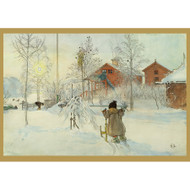 Carl Larsson Christmas Cards-The Yard (C234)