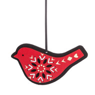 "Wooden Die-Cut Bird Ornament With Felt Backing - 5.5"" (140308)"