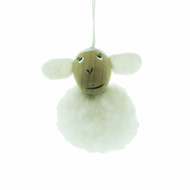 "Lamb Ornament - White - 2"" (84)"