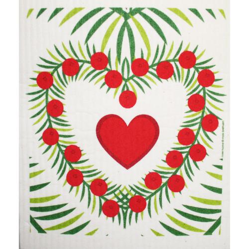 Swedish Dishcloth - Heart Wreath (219.56)
