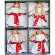 Lucia Girl Felt Ornaments - Boxed Set of 4 (H1-2079)