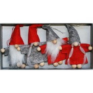 Nordic Gnome Ornaments - 3.5 inch - 4 Pack (H1-2112)