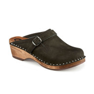 Raphael Clogs in Black Suede - Original Sole Collection (062-111)