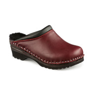 Kandinsky Sheepskin Clogs in Bordeaux - (5620-288)