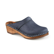 Da Vinci Clogs in Dark Blue Suede