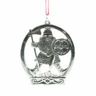 Norwegian Pewter Ornament - Fierce Viking (78-3188)