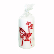 "Pillar Candle - Dalahorse - 5 3/4"" - White"