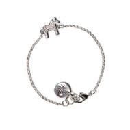 Dala Horse Silver Krystal Bracelet (62954)