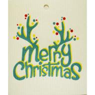 Swedish Dishcloth - Merry Christmas Antlers (56850)