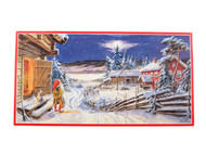 "Swedish Christmas Poster 12"" x 24"" Winter Night by artist Curt Nystrom (BKP2)"