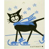 Swedish Dishcloth - Cat on Skates (56157)