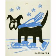 Swedish Dishcloth - Dog on Skates (56158)