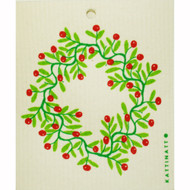 Swedish Dishcloth - Lingonberry Wreath (56169)