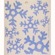 Swedish Dishcloth - Blue Snowflakes (56160)