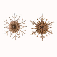 "Nordic Alpine Snowflake Ornament - 10"" - Set of 2 (NF0328)"