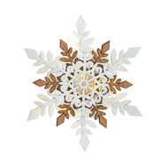 "Lighted Laser Cut Snowflake Ornament - 6"" (NF0389B)"