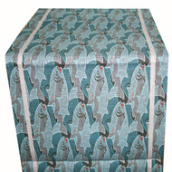 Linen Table Runner - Fish - 16 inch x 48 inch (TR2)