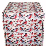 Linen Table Runner - Domherre Birds - 16 inch x 72 inch (TR1-72)