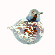"Bianco-Blue-Finnish Glass Bird - Brown - 3.25""H X 4.75"" L (20-2003)"