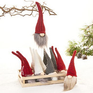 Scandinavian Fabric Nordic Gnome Ornaments - Set of 4 (8716)