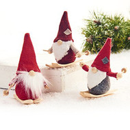 Scandinavian Fabric Nordic Gnome Skiers - Set of 3 (8320)