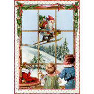 "Advent Calendar - Kids In Window - 4.5"" x 6.75"" (94372A)"