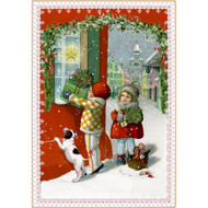 "Advent Calendar - Kids With Gifts - 4.5"" x 6.75"" (94372C)"