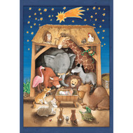 "Advent Calendar - Baby Jesus and the Animals - 9.75"" x 14"" (AC71334)"