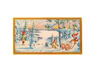 Scandinavian Christmas Poster - Skiing Tomte Nisse (BKP33)