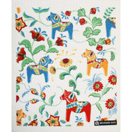 Swedish Dishcloth - Dalahorses and Kurbits (70675)