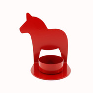 "Dalahorse Tealight Candle Holder - 4"" - Die-cut Metal (2593)"