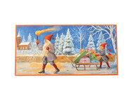 "Jenny Nystrom Christmas Poster - 12"" x 24"" - Gifts on Sled (BKP4)"