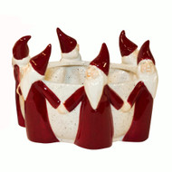 """Ceramic Bowl - Tomtar Santa's - 6"""" (8266)"""