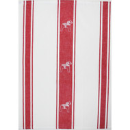 Dala Horse Towel - White/Red (85701)