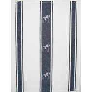 Dala Horse Towel - White/Navy (85702)