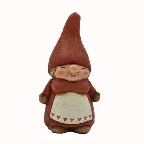 Mamma Luva with Heart Apron Tomtemor Figure - Ceramic (9011)