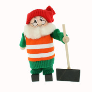 "Tomte w/Safety Vest and Shovel - 7"" (21710)"