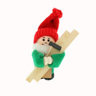 "Tomte Carpenter w/Wood and Hammer - 4"" (21712)"