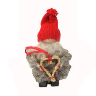 "Tomte Santa with Straw Heart - 5"" (17284)"