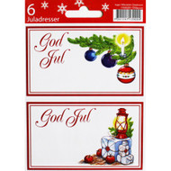 God Jul Gift labels - Christmas Lights - 6-pack (11595201B)
