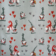 "Christmas Wrapping Paper - Knitted Heart & Pixies - 23"" x 72"" (16612)"
