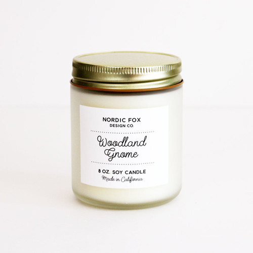 Woodland Gnome Handmade Scented Natural Soy Candle (CA-Wood