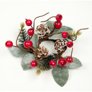"Candle Ring - Berry Pine Cone - 3"" (E301-RG)"
