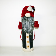 Bottle Bag - Nordic Christmas Santa - Charcoal (BB851C)