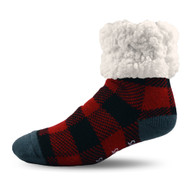 Lumberjack Red Slipper Socks - Pudus Classics (LJ-RED-SS)