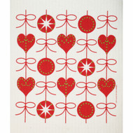 Swedish Dishcloth - Hearts & Bows (219.30)