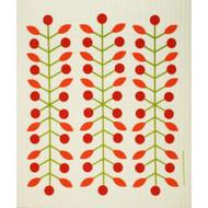 Swedish Dishcloth - Berry Branch Red (218.53R)