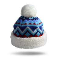 Nordic Blue Knit Hat (NOR-BLU-H)